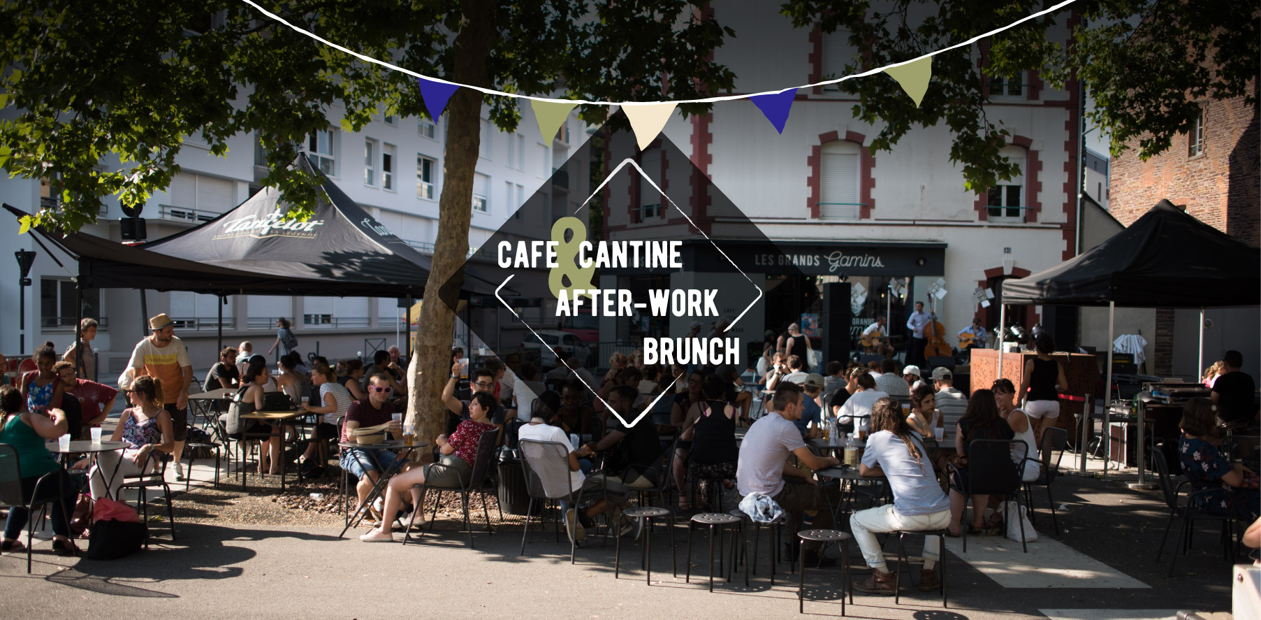 Terrasse Les Grands Gamins café cantine after-work brunch Rennes